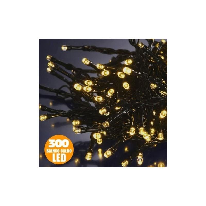 Minilucciole LED 15mt per esterno 300 LED Bianco CALDO
