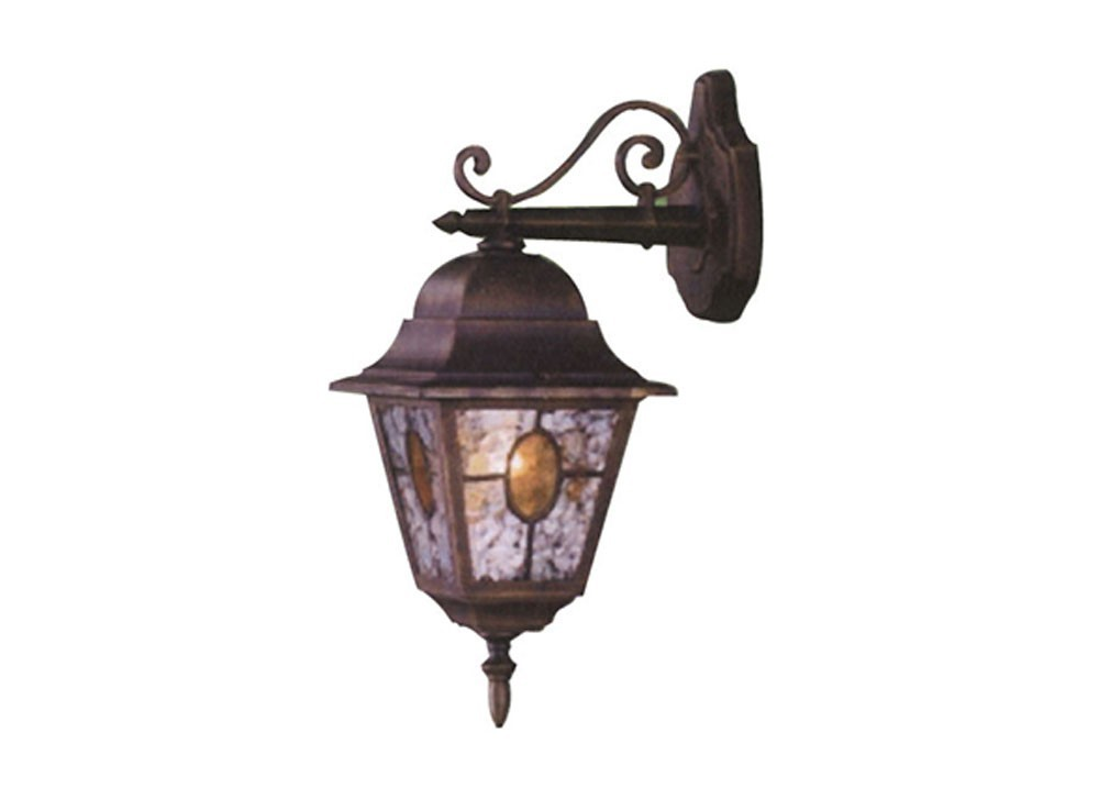 Applique lanterna down munchen vetro smerigliato