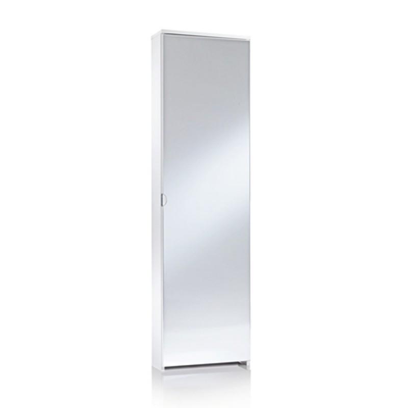Mobile scarpiera 1 anta a specchio bianco 5 ripiani arredamento casa