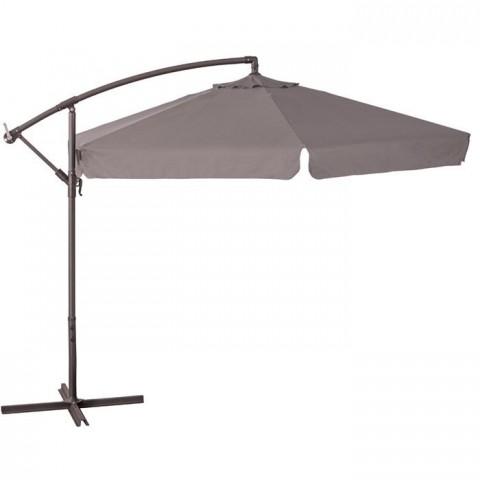 Ombrellone a braccio 3mt copertura tortora struttura in acciaio arredo giardino