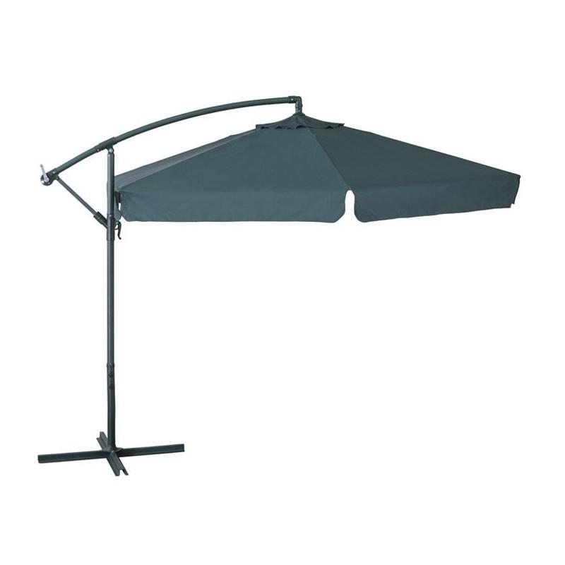 Ombrellone a braccio 3mt copertura verde struttura in acciaio arredo giardino