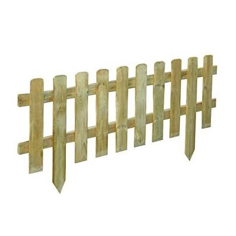 Staccionata in legno vampiro 120xh45cm esterno arredo giardino steccato BD-17815
