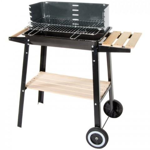 Barbecue a carrello con ripiano