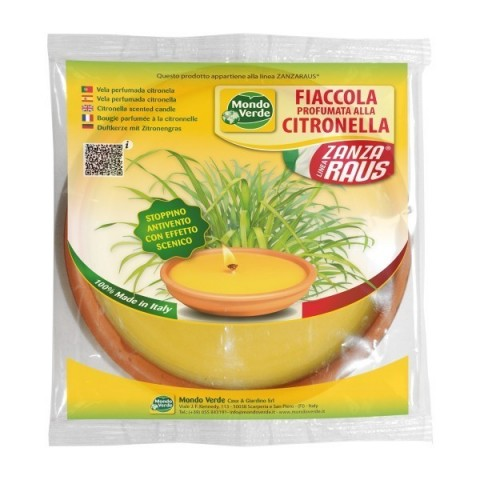 Fiaccola Cotto Citronella 17 cm