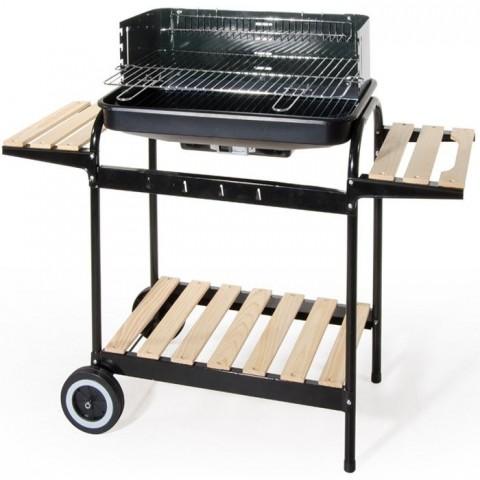 Barbecue a carrello con 2 ripiani