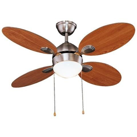 Ventilatore da soffitto 1 luce 4 pale in legno 65w funz Est/inv