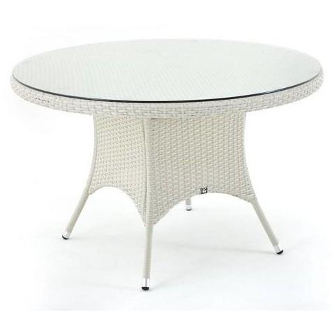 Tavolo rotondo da pranzo bianco diametro 120 Ibiza