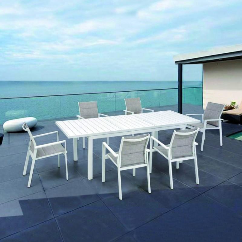 Tavolo Allungabile Palm Beach 185/245 x 90 cm Bianco