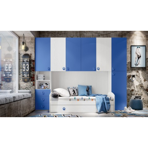 Cameretta a ponte colori bianco e blu