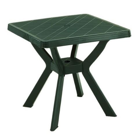 Tavolo Nilo quadrato 80x80x72 verde resina gambe incrociate