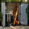 Casetta porta attrezzi in resina e polvere di cemento verniciabile