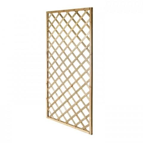 Grigliato rettangolare in legno impregnato 90x180cm