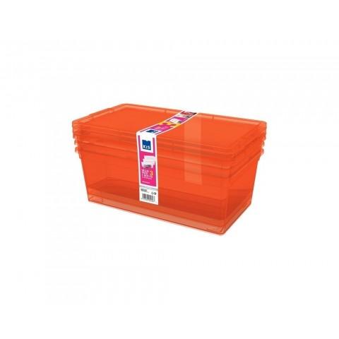 Kit 3 contenitori arancio