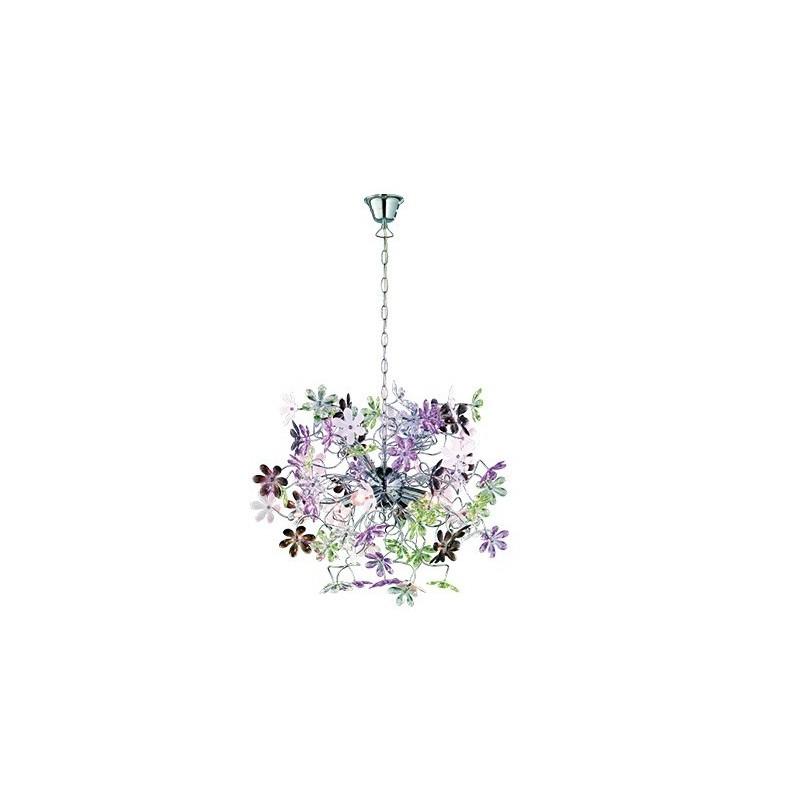 Sospensione Flower in acrilico trasparente
