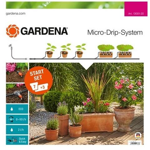 Set micro irrigazione 15m per 7 vasi e 3 fioriere