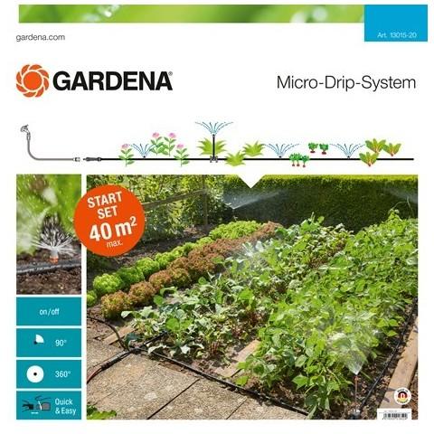 Set micro irrigazione orto aiuola 40mq