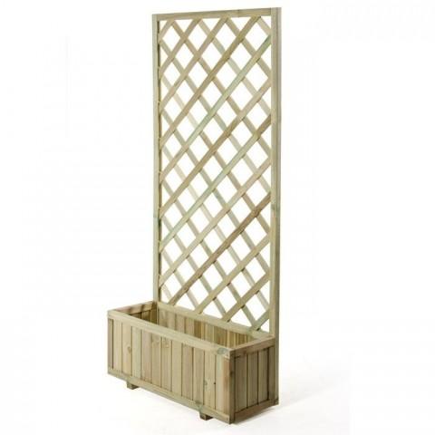 Fioriera con grigliato 75x30x180cm in legno impregnato