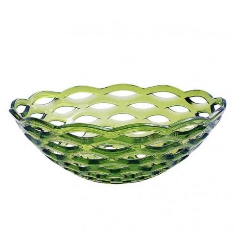 Centrotavola in acrilico 34x34x12cm colore verde