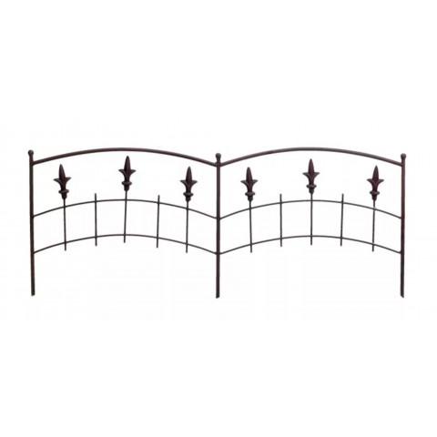 Steccato ROYAL PVC 1 pezzo 40x100cm in metallo colore marrone