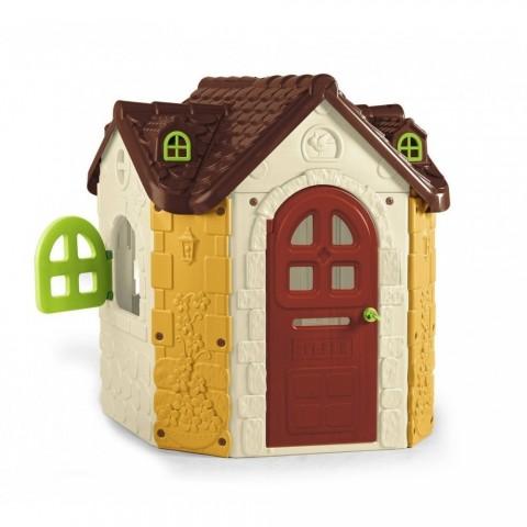 Casetta da gioco in resina con finestre