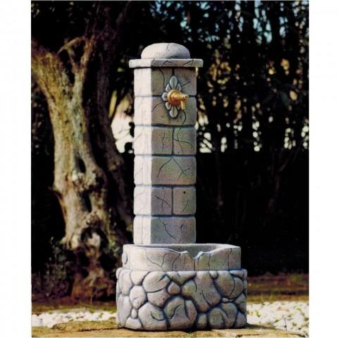 Fontanella a colonna 46x30x100cm colore pietra