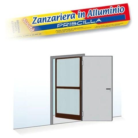 Zanzariera per porta a unico battente 100x240cm colore marrone