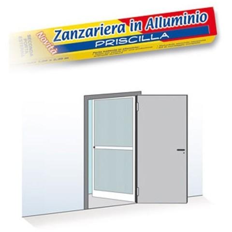 Zanzariera per porta a unico battente 100x240cm colore bianco