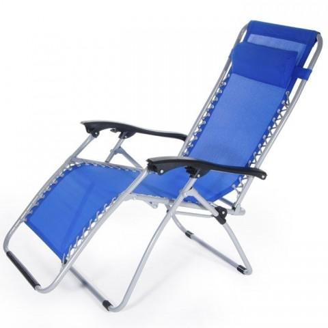 Poltrona sdraio multiposizionale Ibiza 62x142x120 blu