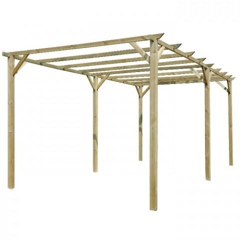 Pergolato in legno impregnato 3x6m