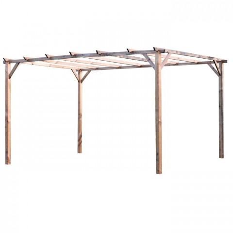 Pergolato in legno 300X400X250H P.9X9 LEGNO IMPREGNATO