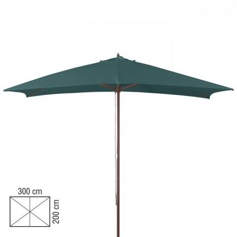 Ombrellone in legno 2x3m colore verde