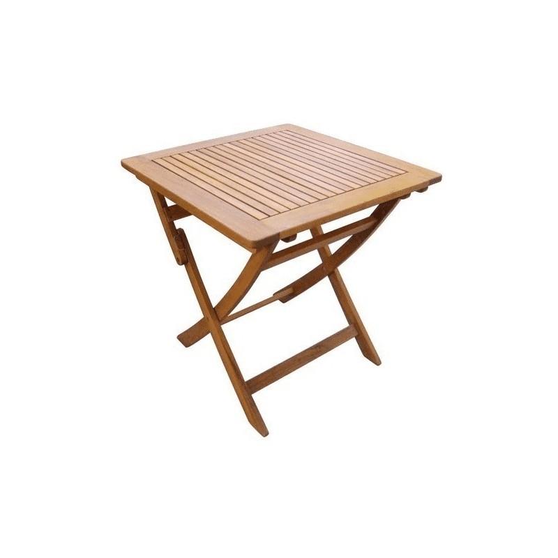 Tavolo quadrato pieghevole in legno di acacia 70x70x70cm for Tavolo di legno pieghevole