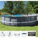 Piscina ULTRA FRAME XTR 610x122cm con pompa a sabbia, telo copertura, telo base e scaletta