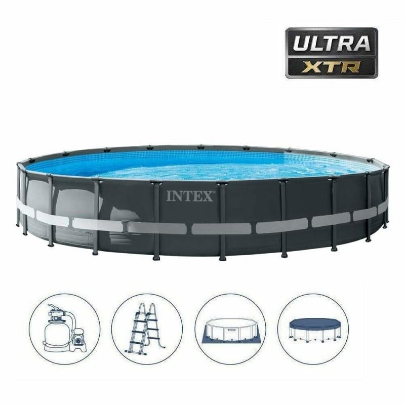 Piscina ULTRA FRAME XTR 732x132cm con pompa a sabbia, telo copertura, telo base e scaletta