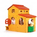 Casetta gioco grande villa 199x154x180 in resina con finestre 3+