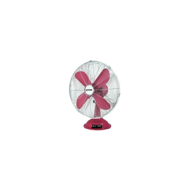 Ventilatore da tavolo vintage colore rosso