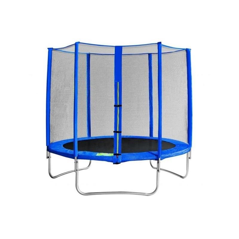 Trampolino elastico con rete 244 cm
