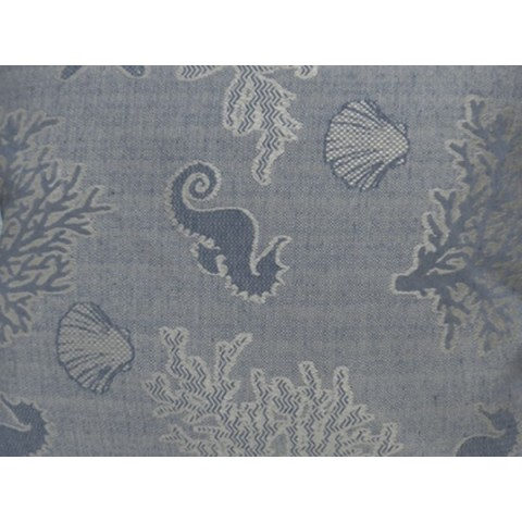 Cuscino spalla media eco colore blu fantasia