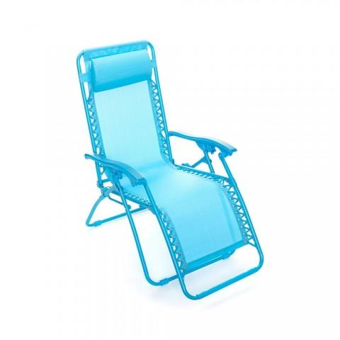 Poltrona Sdraio GRAN RELAX colore azzurro