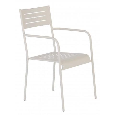 Sedia MEDEA con braccioli colore grigio chiaro