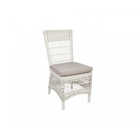 Sedia JUPITER con cuscino colore bianco antico