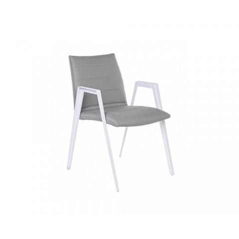 Sedia AXOR con braccioli colore grigio