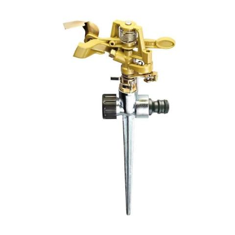 Irrigatore a settore/a cerchio in ottone su puntale in metallo