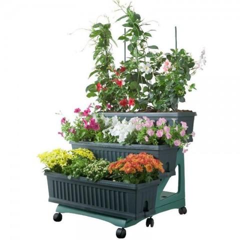 Kit orto 3 fioriere colore verde