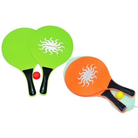 Racchettoni con pallina in PVC colori assortiti