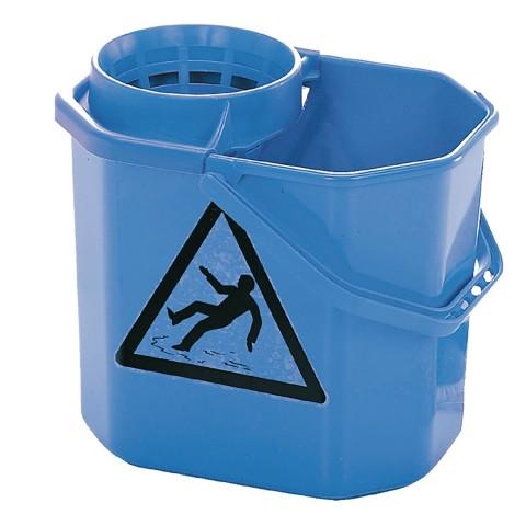 Secchio con strizzatore professionale blu