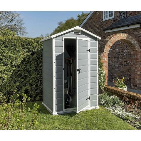 Casetta da giardino Keter Manor Grigia 4x3 in resina