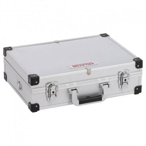 Valigia in alluminio con rinforzi angolari