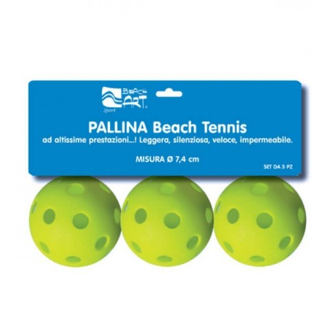 Set 3 palline verdi da beach tennis