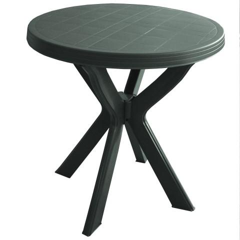 Tavolo rotondo Don con gambe collegate verde